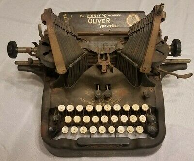 Vintage Oliver Typewriter No. 9 The Printype 1912 Antique For Parts