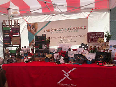 The Cocoa Exchange Red Tablecloth Party Craft Vendor Trade Show