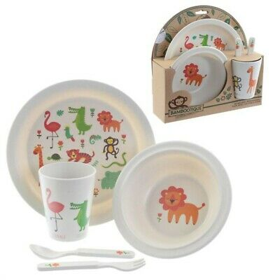 Jungle Children's Dinner Set, Bamboo Composite, Zooniverse, Resusable, New