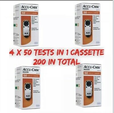Accu-Chek Mobile Test Cassettes (4x50 = 200 tests) Long Expiry Dates