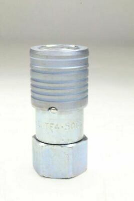 """Steel Flush Face Hydraulic Quick-Connect Fitting Coupler 3/8"""" x 1/2""""-14 3HTF4"""