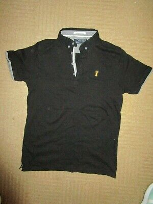 boys boy polo shirt top black next short sleeved age 12 years worn once  smart