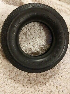 VINTAGE Firestone Tire Ashtray * Rubber Tire Non Skid Balloon Needs Glass Tray