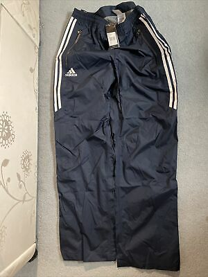 "Adidas Climapdoof Pants, Unisex 38"" - Navy, Red - Rain pant, waterproof BNWT"