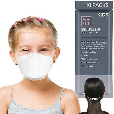 10 Pack Kids KF94 Face Covering Long Lasting Made In Korea Small