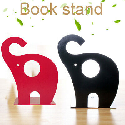 Metal Bookends School Cartoon Elephant Decoration Kids Gift Stand For Shelves