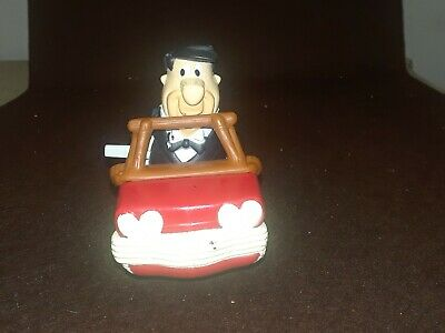 Vintage Flintstones Fred Wind-up Toy With Car