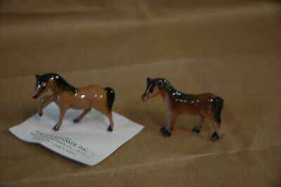 Hagen Renaker mini mini stallion and mare horse pair