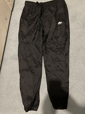 Men's Nike Nylon Pants L - Excellent Condition, Black, Mesh Lined SP190912SIV
