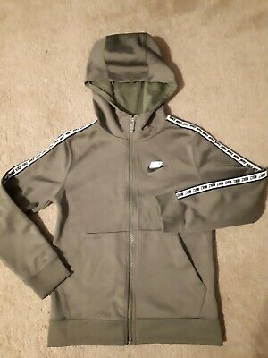 Authentic Nike kids zipper hoodie, size S, 128-137cm height, 30in chest, green