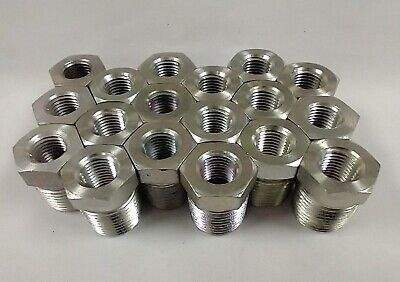 "1/4"" Fnpt To 1/2"" Mnpt Steel Threaded Coupler Bushings (Lot Of 18) 5406-04-08"
