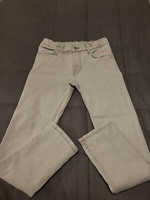 H&M Skinny Fit Grey Denim Jeans Age 8-9 Years Adjustable Waist
