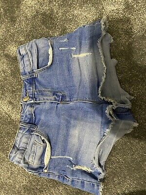Miss Evie Age 12-13 Years Shorts Used Blue Hot Pants