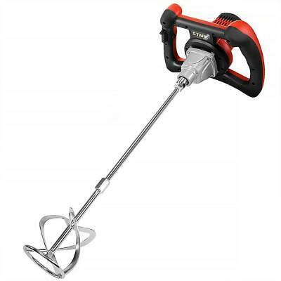 1600-Watt Handheld Electric Thinset Grout and Cement Mixer for Concrete, Mortars