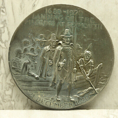 Landing of the Pilgrims at Plymouth 1620-1970 Pewter Commemorative