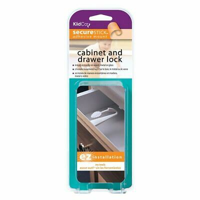 Kidco Adhesive Mount Cabinet and Drawer Lock 1 pack White