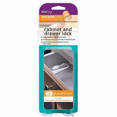 Kidco Adhesive Mount Cabinet and Drawer Lock 3 pack White