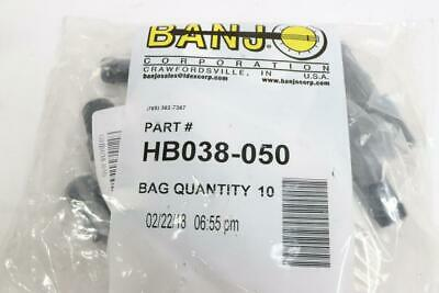 "(3) Banjo Barbed Hose Fitting 3/8"" Male Thread x 1/2"" Hose Barb HB038-050"