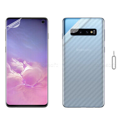 Front Soft Back Carbon Fiber Screen Protector for Samsung Galaxy S10 G973U Phone
