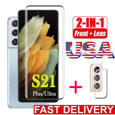 For Samsung Galaxy S21 Ultra Plus Camera Lens+Tempered Glass Screen Protector ㊖㊖