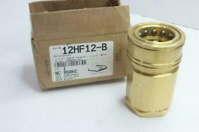 """Dixon H-Series Brass Quick Connect Female Coupler ISO-B High Volume 1-1/2"""" NPTF"""