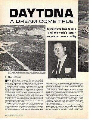 1963 Daytona Race Track - A Dream Come True ~ Original 4-Page Article