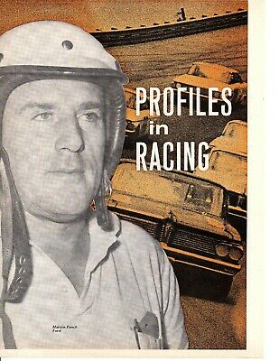 1963 Profiles In Nascar Racing ~ Original 6-Page Article