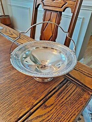 925 El-Sil-Co Sterling Silver Compote Reticulated Rim 166 grams Weighted