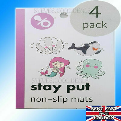 Non Slip Bath Shower Mat for Kids Stay Put Non-slip Mats With Suction Cups