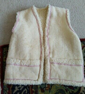 Vintage reversible Toddlers Faux Sheep Gilet (One Size) Used
