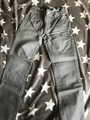 Mini Boden Boys Grey Slim Fit Jeans 9 Years Brand New
