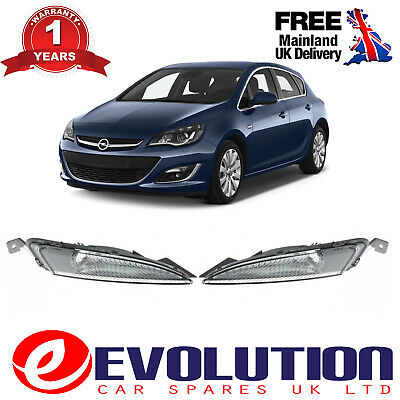Front Fog Cover Signal Lamp Pair Right Left Fits Vauxhall Astra Mk6 2012-2015