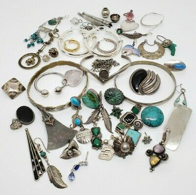 Vintage to Now Signed Sterling Silver .925 Lot for Scrap Craft Upcycle 207 Grams