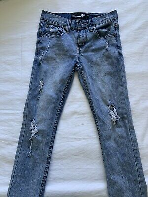 RSQ Jeans Tokyo Super Skinny Youth Boys Denim Ripped Jeans - Size 10