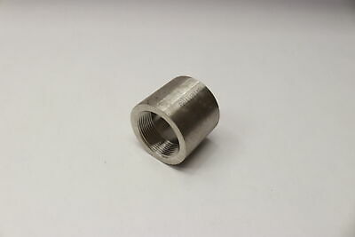 304 Stainless Steel Threaded Straight Coupling Class 150 FNPT Ends 1-1/2""