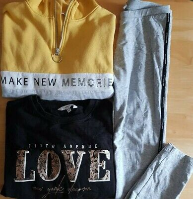 Girls age 10-11 years Activewear Bundle ~ Calvin Klein Leggings ~ H&M Sweatshirt