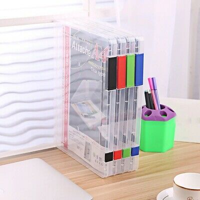 A4 size Files Document Plastic Paper Holder Case storage box  for School Office