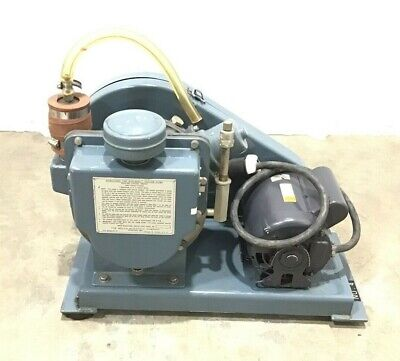 Welch Duo-Seal Vaccum Pump Belt Drive Rotary Vane Pump 1376