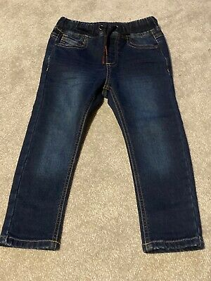 Boys Next Drawstring Blue Jeans  - Age 2-3 Years - Worn Once!