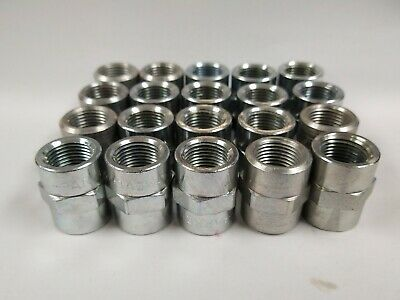 "5000-06-06 3/8"" Fnpt To 3/8"" Fnpt Steel Bushing Couplers (Lot Of 20)"