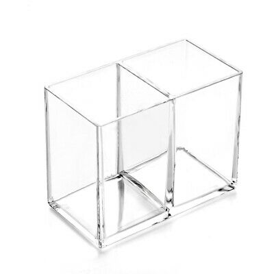 Clear Acrylic Makeup Brush Holder Pen Pencil Cup Holder Cosmetic Storage Case D