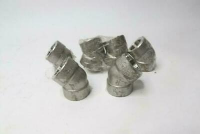 Stainless Steel Forged Socket Weld Pipe Fitting 45Deg. 304/304L 3000LB 6-Pack