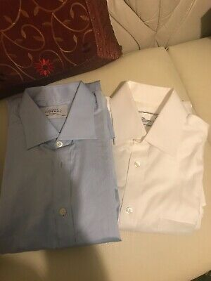 "2 X 'CHARLES TYRWHITT' LONG SLEEVED SHIRTS 16"" Brand New"