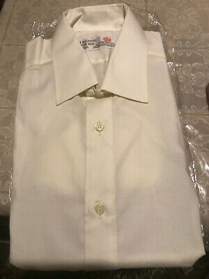 NEW Van Heusen Mens Long Sleeve White Easy Iron Cotton Shirt  15 1/2 Brand New
