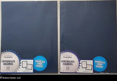 Geographics Certificate Holder, Navy, 9.5in x 12in, 10/Pack, 2 Packs