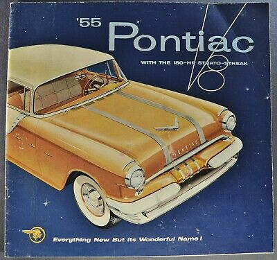 1955 Pontiac Lg Prestige Brochure Star Chief Chieftain 860 870 Wagon Original 55