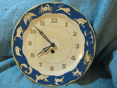 Vintage Smiths Astrology star signs wall clock Good working order