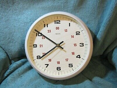 Large Vintage Smiths wall clock Good working order with quartz movement 11in acr