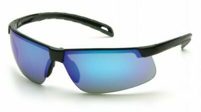 Pyramex EverLite Ice Blue Mirror Lens Safety Sunglasses With Black Frame SB8665D