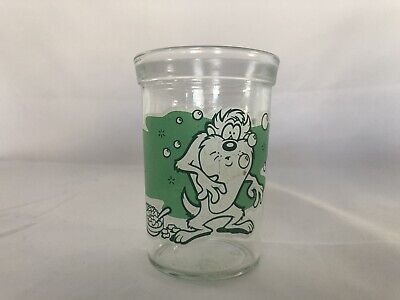 Vintage Welch's Jelly Jam Jar Glasses Looney Toons #2 Taz 1994